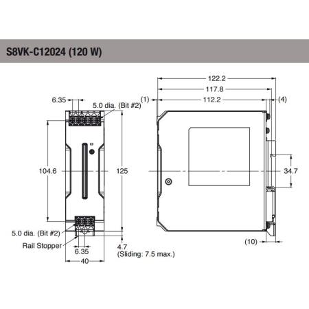 S8VK-C12024 KİTAP TİP 24VDC 5.0A