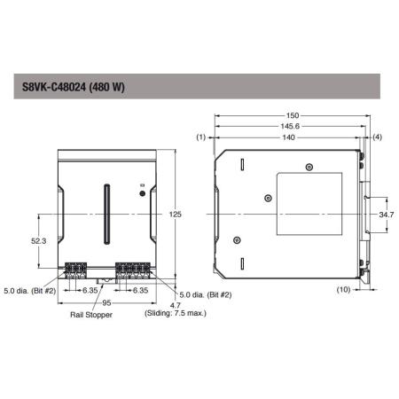 S8VK-C48024 KİTAP TİP 24VDC 20.0A