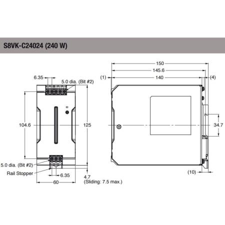 S8VK-C24024 KİTAP TİP 24VDC 10.0A